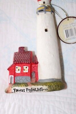 Lighthouse Decorative Porcelain Light House Collectible Tawas Point Michigan MI (Tawas Point)