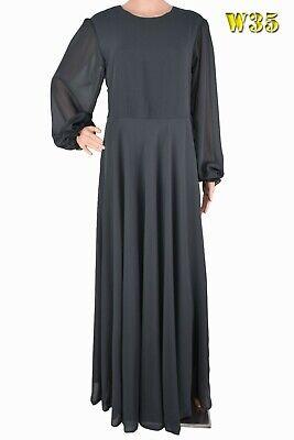 "Dress/ Abaya Jilbab - UK Size - 12 - Length 48,49,50,51,52,53,54,55,56"""
