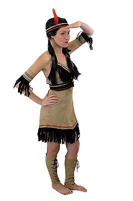 Tolles Set: Kostüm Damen Damenkostüm Indianerin Indianerfrau L019 XS S M - Indianerin Kostüm