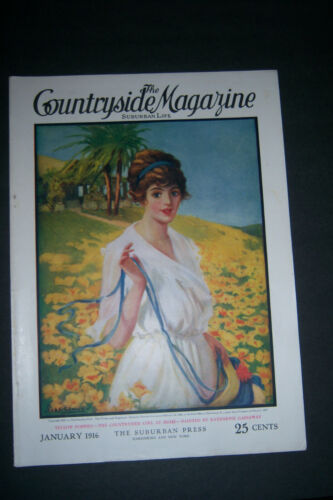 THE COUNTRYSIDE MAGAZINE SUBURBAN LIFE January 1916 Katharine Gassaway Cover