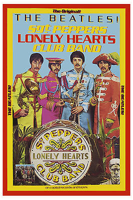 1960's The Beatles *Sgt. Pepper* Capitol Poster 1967  WINDOW CARD PROMO