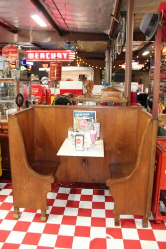 1920S ORIGINAL SINGLE STATION Wood Booth Furniture from Big Bear, CA