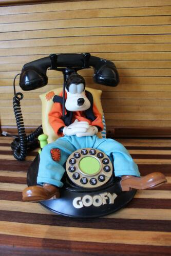 Disney Telemania Goofy Animated Talking Landline Corded Telephone, Working Works