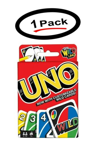 1 UNO Classic 108 Playing Cards Game Family Fun Game Playing Card Free Shipping