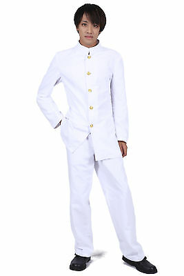 Japanese Anime Cosplay Costume White Male Formal School Uniform Outfit