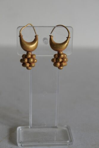 ANCIENT GREEK GOLD EAR RINGS 7/6th CENTURY BC