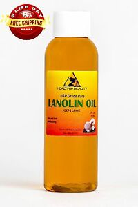 LANOLIN OIL USP GRADE PHARMACEUTICAL SKIN HAIR LIPS MOISTURIZING 100% PURE 2 OZ