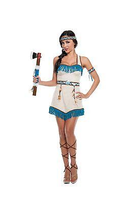 Sexy Halloween Adult Women's Native Princess Indian Girl Costume w - Indian Girl Adult Kostüm