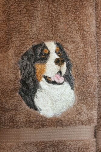 Bernese Mountain Dog Kids Bathroom Set HAND TOWELS EMBROIDERED Beautiful