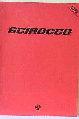 1 x CAR BROCHURE - VOLKSWAGEN VW SCIROCCO - 1977 - GOOD