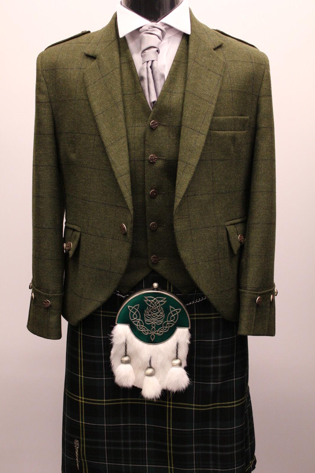 Green Tweed New Argyll Kilt Jacket Amp Vest For Sporran
