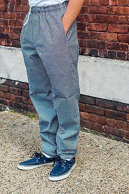 New Baggy Chef Pants Checkered W Drawstring