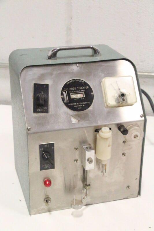 Aminco-Cotlove 4-4420 Chloride Titrator American Instrument Co.