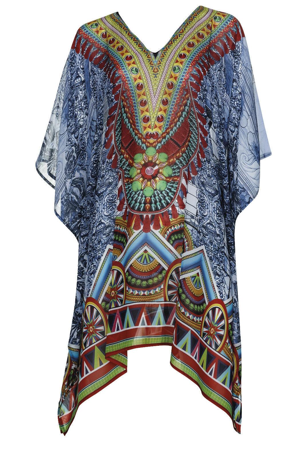 Sunflair Strandkleid Badekleid Tunika mit buntem Muster Gr. 40 NP 49,99 €