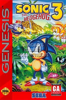 RGC Huge Poster - Sonic the Hedgehog 3 Sega Genesis BOX ART - SON003