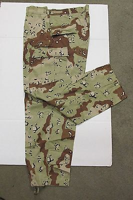 US MILITARY DESERT STORM 6 COLOR CHOCOLATE CHIP BDU PANT XLARGE 1991 DATED NOS