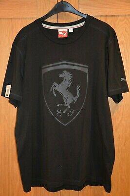 Puma Ferrari Big Shield Tee T-Shirt Black