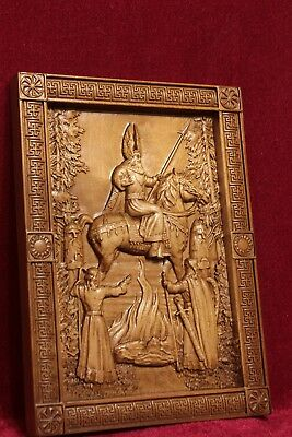 """Svarog The Gold of Celestial Fire Wooden carved picture 3D painting art 11.5""""."""