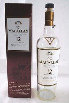 The MACALLAN 12 Year Old Highland Single Malt Scotch Whisky Empty Bottle & (Old Highland Malt Whisky)