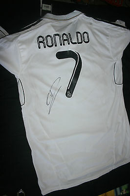 CRISTIANO RONALDO SIGNED REAL MADRID JERSEY DC/COA (NEW WITH TAGS) RARE