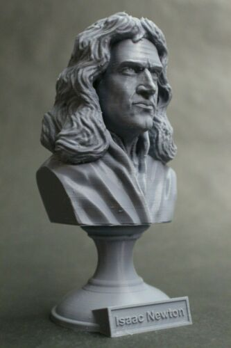 Sir Isaac Newton 5 inch English Mathematician 3D Printed Bust Art FREE SHIPPING