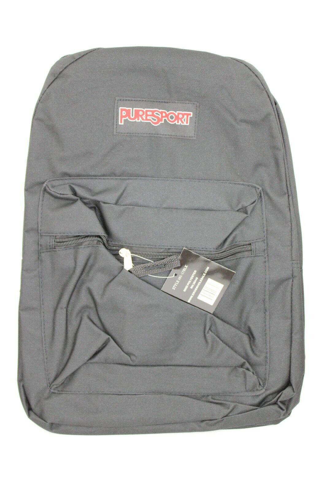 """""""NEW"""" PureSport Super Break Black Bagpack Book Bag"""