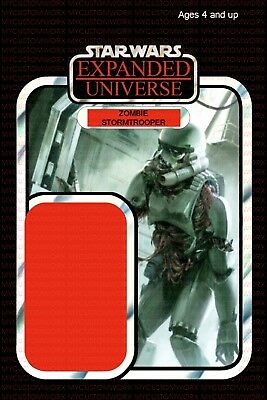 Custom Star Wars Expanded Universe Lego Size Zombie Stormtrooper Card Back - Stormtrooper Zombie