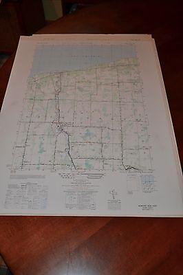 1940's Army topo map (like USGS) Newline New York -Sheet 5270 I SW Burt