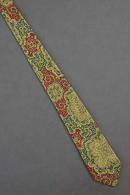 1950s Men's Ties, Bow Ties – Vintage, Skinny, Knit Persian Design - 1950's Skinny Narrow Thin Vintage Tie Necktie $24.99 AT vintagedancer.com