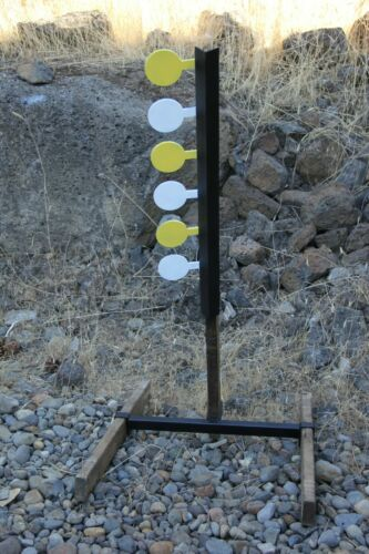 Rimfire Dueling Tree Six Paddle AR 500 Target Set (Base Included)