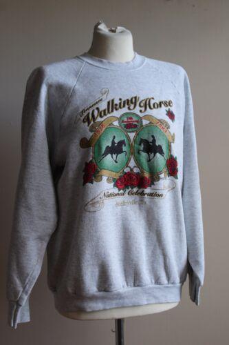 Vtg 1993 Tennessee Walking Horse L Sweatshirt Anniversary Celebration Gray 50/50