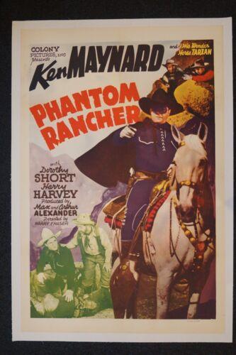 PHANTOM RANCHER (ON LINEN) - KEN MAYNARD
