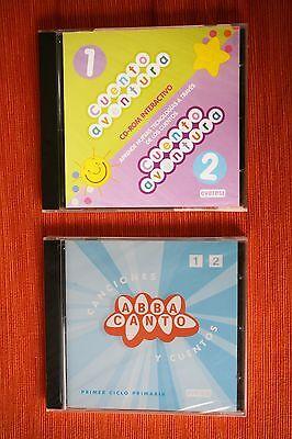 2 CD-Rom: ABBA Canto y CUENTO AVENTURA (Primer Ciclo Primaria).DIDACTICOS,NUEVOS