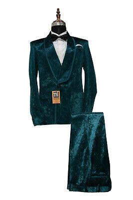 Hombre Rama Terciopelo Trajes de Diseño Boda Informal Cena (Abrigo+Pantalones)