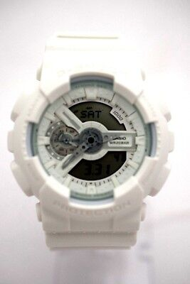 e3749529aa3 CASIO G-SHOCK GA110BC-7AS Classic Analog Digital White Case White Resin Band