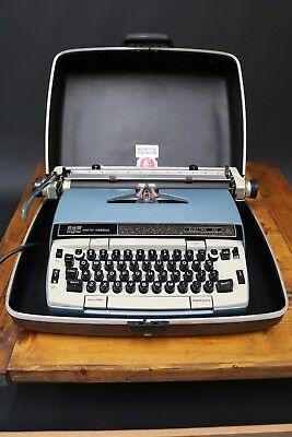 Smith Corona Electra 120 Electric Portable Typewriter + Hard Case USA 1970s
