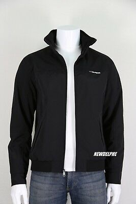 NWT TOMMY HILFIGER Men's Water Resistant Windbreaker Jacket Coat Black