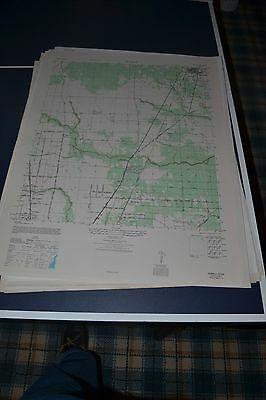 1940's Army topo map (like USGS) Humble Texas Sheet 6943 IV NE Houston
