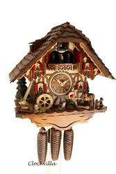 cuckoo clock hettich black forest 8 day original german  music horse farm new