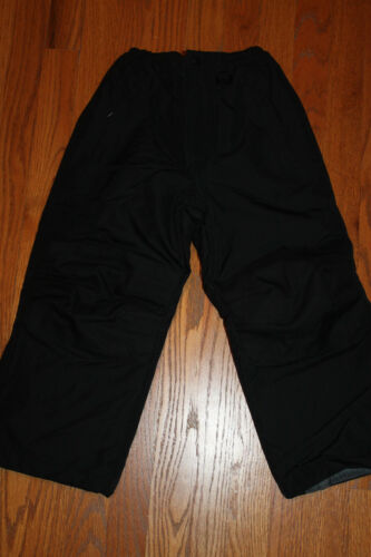 LANDS END KIDS Boys BLACK Snow SQUALL PANTS 5 6 or 7 reinforced knees NEW