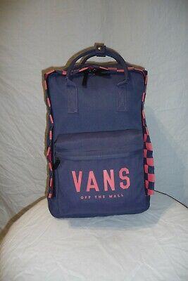 VANS Blue & Pink 20L Rucksack Backpack Bag