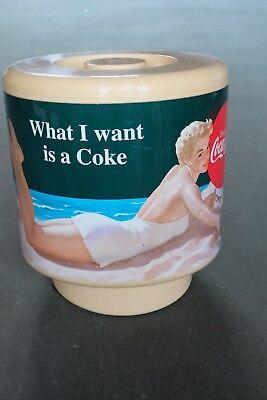 Vintage Coca-Cola Swimsuit Model Plastic Ice Bucket by Invicta