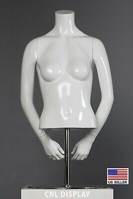 Store Fixture Durable Polyurethane Female Headless Mannequin Torso