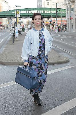 Damen Overall lila violet purple blau blue long lang 80er True VINTAGE women 80s