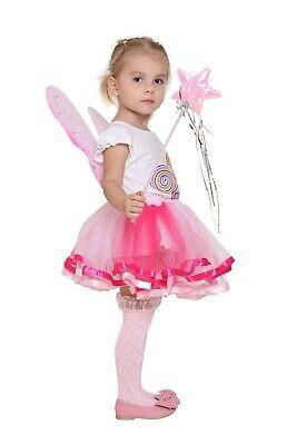 Halloween Tinkerbell Costumes (Girls Pixie Butterfly Fairy Wing Tutu Skirt Tinkerbell Halloween)