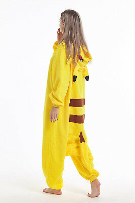 Women Men Unisex Adult Pajamas Pikachu Onesie0 Kigurumi Animal Cosplay Costumes (Mens Onesie Costume)