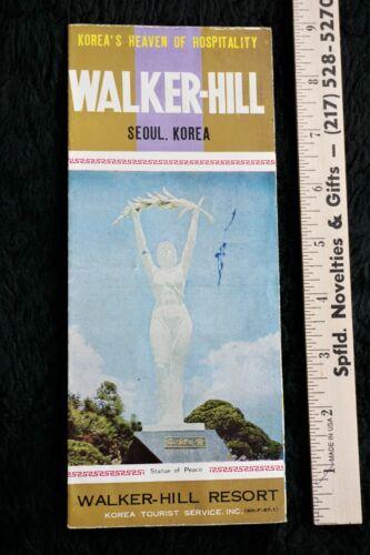 Vintage, 1967, Walker - Hill Resort, Seoul, Korea Brochure