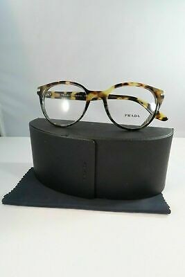 Prada Women's Tortoise Glasses and case VPR 07T U6O-1O1 Round 52mm