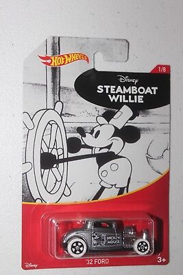 2018 HOT WHEELS DISNEY SERIES STEAMBOAT WILLIE '32 FORD