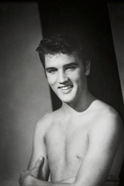 Elvis Presley BEEFCAKE SHIRTLESS Nude Photo 8 X 11 Gay